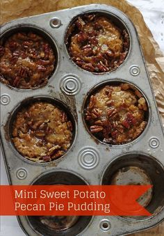 Mini Sweet Potato Pecan Pie Pudding made of sweet potato pudding because everything mini is cute, And easy to serve :-)