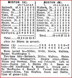 1931 Red Sox vs. Braves box score