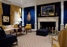 Design by Kevin Davis Wall Artisans in Houston, Tx ~ This is an amazing shade of blue!