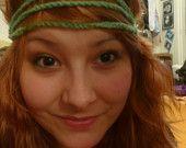 Crocheted Yarn Headband Set