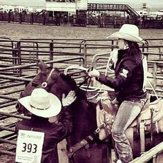 Hannah Beth and Connor Ray High School Rodeo Breakaway Roping Cowboy Cowgirl www.daretobeacowboy.com