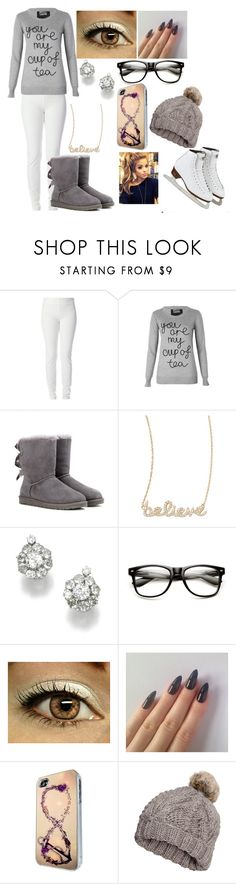"""Carson: Ice Skating"" by kiara-fleming ❤ liked on Polyvore featuring Joseph, Markus Lupfer, UGG Australia, Sydney Evan, CO and H&M"