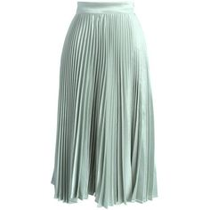 Sweetest Sheen Pleated Midi Skirt in Mint ❤ liked on Polyvore featuring skirts, mint pleated skirt, pleated midi skirts, mint green pleated skirt, green skirt and green pleated skirt