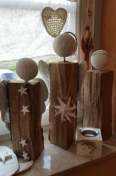drei Engel - New Ideas Handmade Christmas, Christmas Crafts, Diy Art, Diy And Crafts, Wings, Sculpture, Create, Holiday Decor, Wood