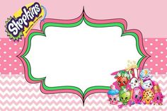 Shopkins invitation. Made for free: Look me up on Facebook. Invitations are still made for free!