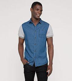 CLOCKHOUSE Baumwollhemd in blau - Mode günstig online kaufen - C&A