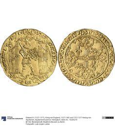 Aquitanien/Guyenne: Herzogtum Münze Edward III. (1327-1377), König von England, 1327-1365 und 1372-1377 Herzog von Aquitanien, Herzogtum, Münzherr 1362-1365 Land: Frankreich (Land) Region: Poitou-Charentes (Region) Münzstätte/Ausgabeort: La Rochelle Nominal: Guyennois d'or, Material: Gold, Druckverfahren: geprägt Gewicht: 3,47 g Durchmesser: 30 mm