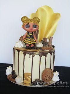Doces Opções: Bolo de aniversário LOL Surprise! Bolo Fresco, Red Velvet, Lion Cakes, Chocolate, Birthday Cake, Lol, Desserts, Sugar Free Cakes, Lactose Free Cakes