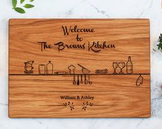 Gift For The Couples Personalized Cutting Board Engraved Custom, Wood Cutting Board, Family Name Wedding Gift, Engraved Kitchen Mothers' Day - Edit Listing - Etsy
