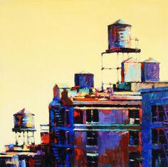 Urban Rooftops Painting - Urban Rooftops Fine Art Print - Patti Mollica  fineartamerica.com