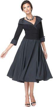 ShopStyle.com: Jessica Howard Dress, Three Quarter Sleeve Portrait Collar A-Line $109.00