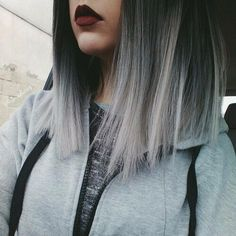 New Hair Gray Balayage Highlights 17 Ideas Dye My Hair, Grunge Hair, Hipster Grunge, About Hair, Silver Hair, Silver Ombre, Gorgeous Hair, Pretty Hairstyles, Grey Hairstyle