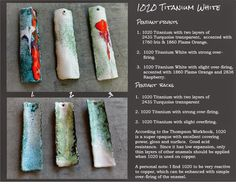 Barbara Lewis : torch-fired enamel: White is White ... Except for When It's Not! - Usare i colori a smalto