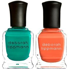Deborah Lippmann Nail Polish Duo ($15) ❤ liked on Polyvore featuring beauty products, nail care, nail polish, nails, cosmetics, beauty, no color, deborah lippmann, orange nail polish and deborah lippmann nail lacquer
