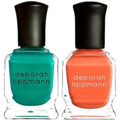 Deborah Lippmann Nail Polish Duo (1.095 RUB) ❤ liked on Polyvore featuring beauty products, nail care, nail polish, nails, beauty, cosmetics, makeup, no color, orange nail polish and deborah lippmann nail color