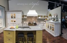 Love these colors! Decora Cabinetry booth at the KBIS show in Vegan 2014