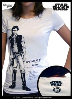 STAR WARS-Han Solo MC-Shirt Damen basic XL weiß