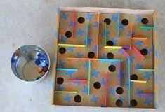 DIY Kugel-Labyrinth aus Pappkarton