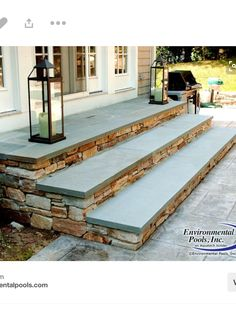 New backyard patio steps front porches 36 Ideas Front Porch Steps, Front Stairs, Back Patio, Deck Stairs, Front Porches, House Stairs, Front Entry, Patio Steps, Outdoor Steps