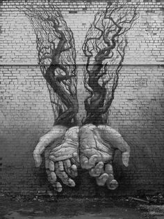 Street Art Hands by Alexander Grebenyukdited Street Art. ☀