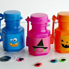 If you're looking for a fun and easy non-candy Halloween treat, you'll love these Happy Halloween BOOOOO-bles!