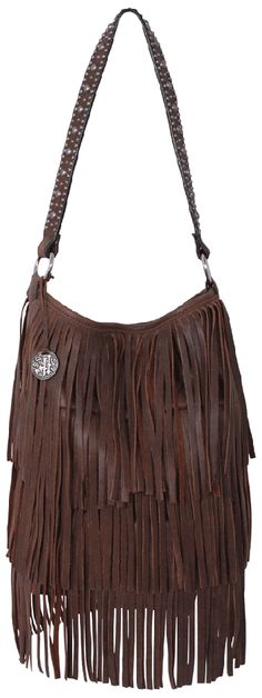 Love this fringed bag! + Small tote accented with fringe bomber leather and antique silver engraved nailheads on the strap. + double j saddlery + $400 + www.doublejsaddlery.com