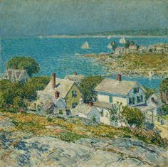 Childe Hassam, Frederick - New England Headlands - Impressionism - Landscape - Oil on canvas