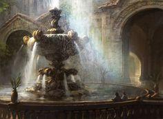 Radiant Fountain by AdamPaquette on DeviantArt