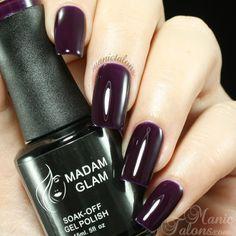 Madam Glam UV Gel 291 - Deep Dark Purple
