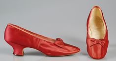 Evening Slippers Made Of Silk - Made By J. & J. Slater - American   c. 1885-1895  -  The Metropolitan Museum Of Art