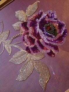 Joe Mitchell - Tambour beading by nicoleBrodeur Bear, Nearly done!La Broderie Luneville: un ricamo prezioso tra fili dorati e perle di vetroTexture embroidery in high fashion collections. Flower motifs - Fair of MastersAin't this super beautiful! Tambour Beading, Tambour Embroidery, Bead Embroidery Patterns, Hand Work Embroidery, Couture Embroidery, Embroidery Fashion, Hand Embroidery Designs, Ribbon Embroidery, Beaded Embroidery