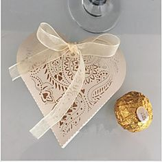 10 Piece/Set Favor Holder-Heart-shaped Pearl Paper Favor Boxes Non-personalised – GBP £ 11.46