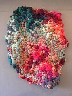 Diy Pom Pom Rug, Dallas, Creative Textiles, Baby Sling, Shibori, Felt Crafts, Snowflakes, Needlework, Bubbles