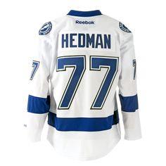 Reebok Victor Hedman Tampa Bay Lightning Road Premier Replica Hockey Jersey #NHL #MyTBSports #TBLightning #GoBolts #TampaBayLightning #Hockey #BeTheThunder #Sports #Apparel #Jersey #Hedman