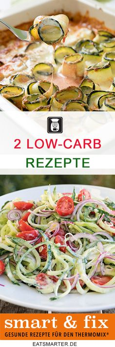 2 summer low-carb dishes for the Thermomix, conjured up by Team MixGenuss. So the summer comes on th Low Carb Recipes, Healthy Recipes, Fiber Rich Foods, Homemade Pickles, Diet Inspiration, Healthy Protein, Paleo Dinner, Sweet And Spicy, Diet And Nutrition