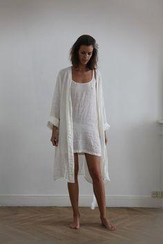 Nuisette en étamine de lin / Linen muslin nightdress