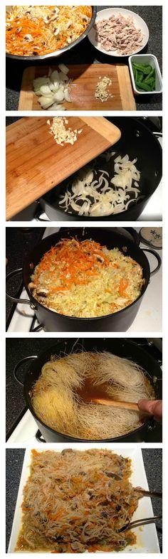 Filipino Style Rice Noodle Dish | 5DollarDinners.com