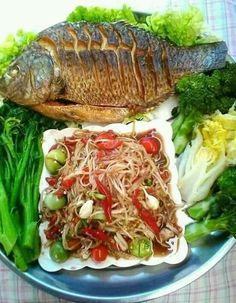 Authentic Thai Food, Best Thai Food, Asian Recipes, Healthy Recipes, Laos Food, Hotel Food, Modern Food, Thai Street Food, Food Shows