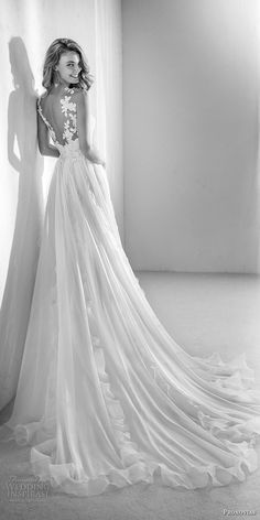 atelier pronovias 2018 bridal sleeveless illusion jewel semi sweetheart neckline heavily embellished bodice romantic soft a line wedding dress v back chapel train bv -- Atelier Pronovias 2018 Wedding Dresses Pronovias Wedding Dress, Wedding Dresses 2018, Wedding Dress Trends, Wedding Dress Styles, Bridal Dresses, Flower Girl Dresses, Most Beautiful Dresses, Sweet Dress, Romantic Weddings