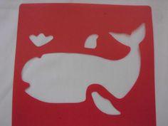 Plastic Art Stencils - Sea Animals Set of 6 Excellent Used Condition!