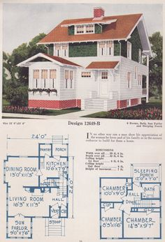 California bungalow ladies 39 home journal and california for 1925 bungalow floor plan