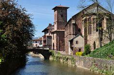 Notre-Dame du bout du pont, Saint-Jean-Pied-de-Port, pays de Cize, Basse-Navarre, Pays basque, Pyrénées Atlantiques, Aquitaine