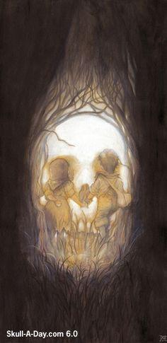 """""""Hansel & Gretel"""" Skull"""