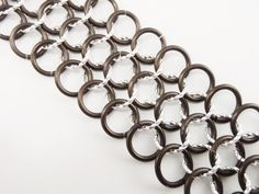 Brown and Silver Chainmaille Bracelet by AndrassidyDesigns on Etsy