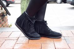 Nala Booties Handmade genuine leather fringe ankle boots in unique black color. Super comfortable booties with soft and warm leather lining. Leather Fringe, Black Leather Boots, Suede Leather, Fringe Ankle Boots, All Black Sneakers, Ships, Booty, Warm, Trending Outfits