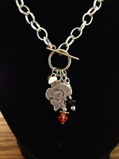 Oklahoma State University Charm Necklace on Etsy, $15.00
