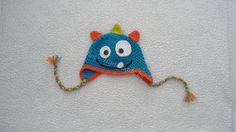 Silly Monster Crocheted Hat  Made to Order by InStitchesbyLeanne