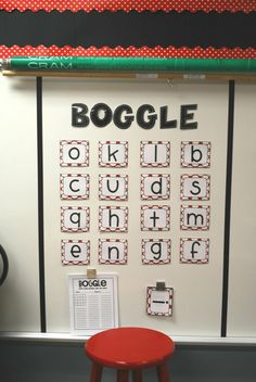 Classroom Boggle- for kids who finish early, morning work, etc. For real this is happening.
