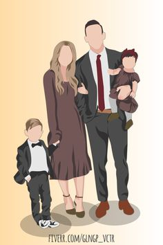 Fiverr freelancer will provide Portraits & Caricatures services and create a minimalistic portrait of your family photo including Figures within 1 day Make A Cartoon, Photo To Cartoon, Cute Couple Cartoon, Family Vector, Family Drawing, Anime Muslim, Family Portrait Photography, Vector Portrait, Book Design Layout