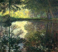 The Pond at Montgeron ~ Claude Monet ~ 1876 ~ Impressionism